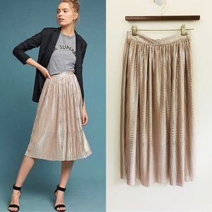NWOT Anthro Sabina Musayev Cassia Pleated Skirt